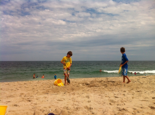 Adam and Jack at Cape Cod