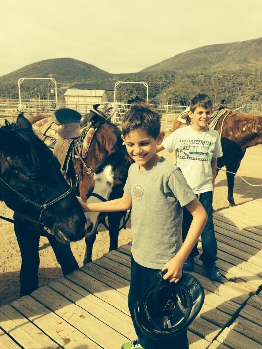 Jack and Adam go Horseback Riding
